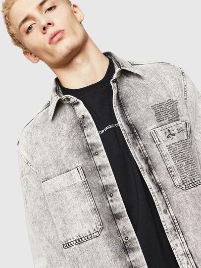Diesel - D-MILOV, Grey - Denim Shirts - Image 4
