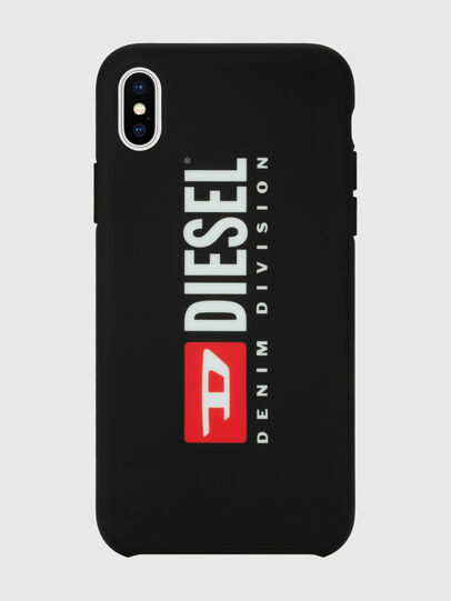 Diesel - DIESEL PRINTED CO-MOLD CASE FOR IPHONE XS MAX, Black/White - Cases - Image 4