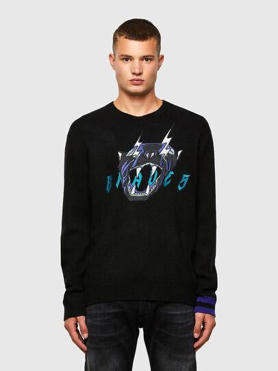 Diesel - K-NOAH, Black - Knitwear - Image 1