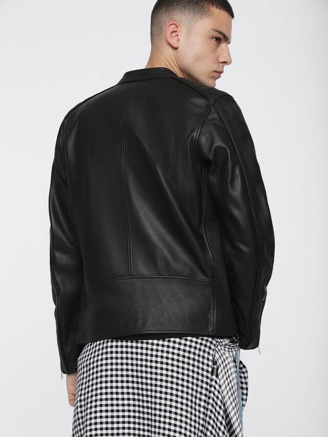 Diesel - L-QUAD, Black Leather - Leather jackets - Image 2