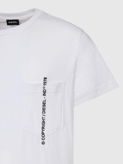 Diesel - T-RUBIN-POCKET-J1, White - T-Shirts - Image 3