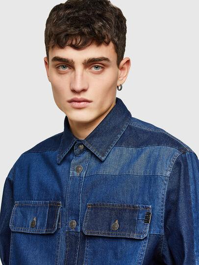 Diesel - D-HORUS, Blue - Denim Shirts - Image 3