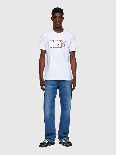 Diesel - T-DIEGOS-B8, Red/White - T-Shirts - Image 4