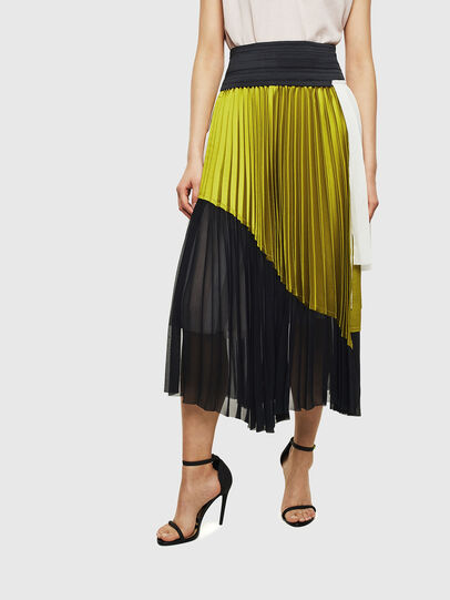 Diesel - O-ESCY, Black/Yellow - Skirts - Image 1