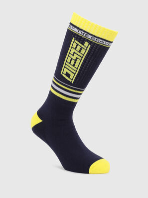 SKM-LONG, Black/Yellow - Socks