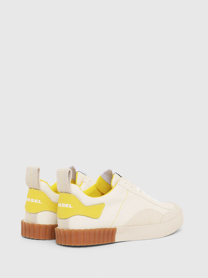 Diesel - S-BULLY LC W, White/Yellow - Sneakers - Image 3