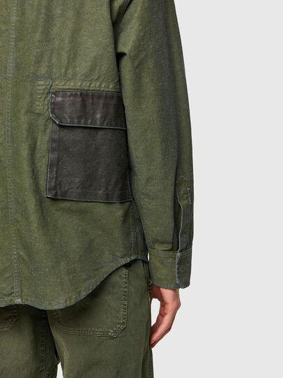 Diesel - D-CORU-SP, Military Green - Denim Shirts - Image 4