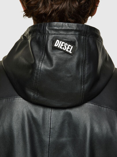 Diesel - L-CIRCLE, Black - Leather jackets - Image 4