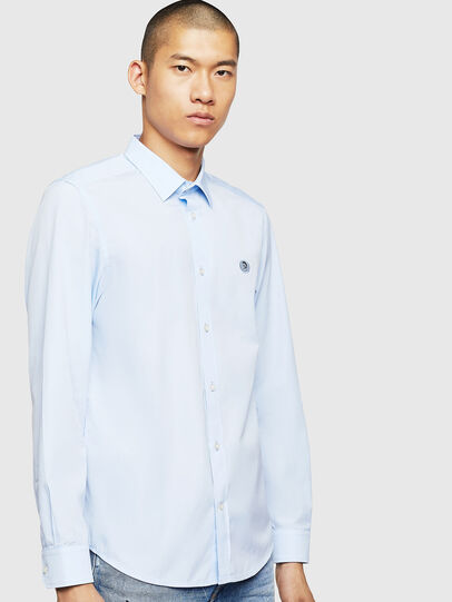 Diesel - S-BILL, Light Blue - Shirts - Image 1