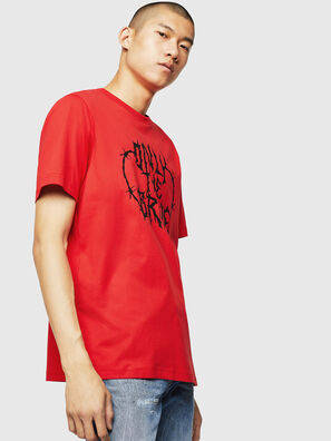 T-JUST-B23, Fire Red - T-Shirts
