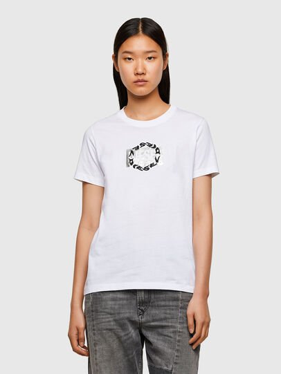 Diesel - T-SILY-R5, White - T-Shirts - Image 1