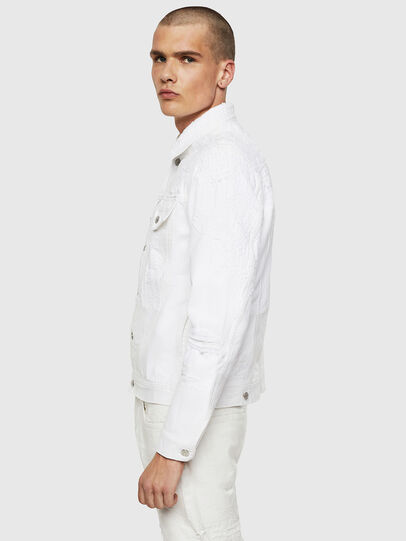 Diesel - NHILL, White - Denim Jackets - Image 7