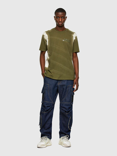 Diesel - T-JUBIND-SLITS-A3, Military Green - T-Shirts - Image 4