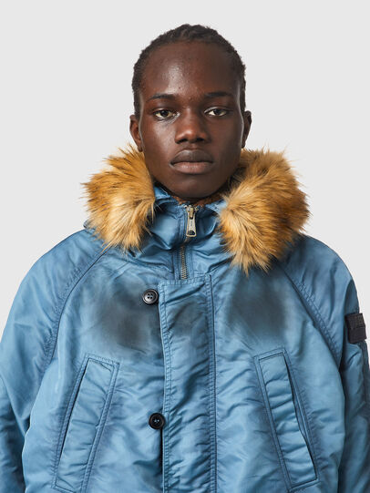 Diesel - W-CLAUD, Blue - Winter Jackets - Image 3