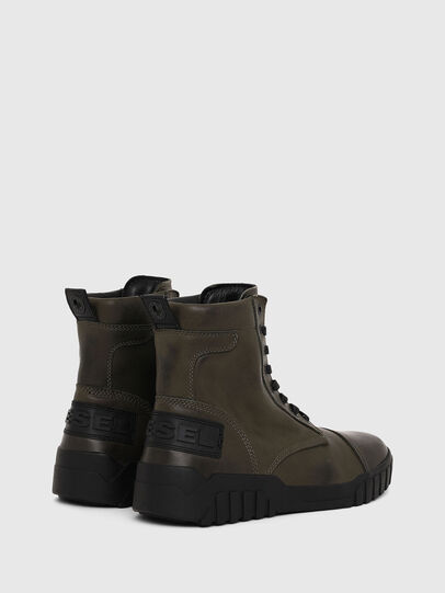 Diesel - H-RUA AM, Military Green - Sneakers - Image 3