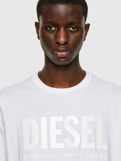 Diesel - T-JUST-INLOGO, White - T-Shirts - Image 3