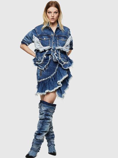 Diesel - DE-AGGIE, Medium blue - Skirts - Image 6