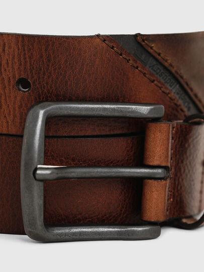 Diesel - B-LINE, Brown Leather - Belts - Image 2