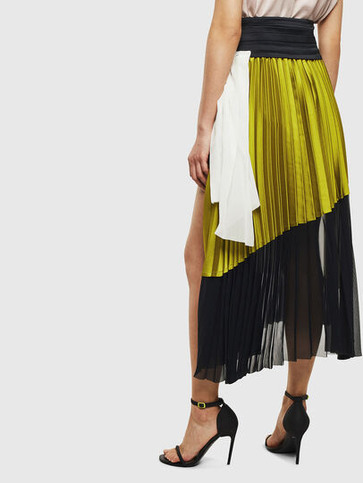 Diesel - O-ESCY, Black/Yellow - Skirts - Image 2