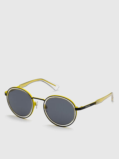 Diesel - DL0321, Black/Yellow - Sunglasses - Image 2