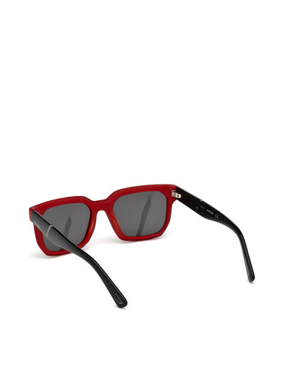 Diesel - DL0253, Black/Red - Sunglasses - Image 2