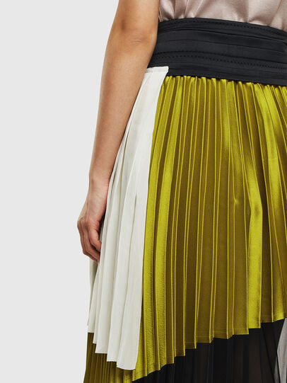 Diesel - O-ESCY, Black/Yellow - Skirts - Image 5