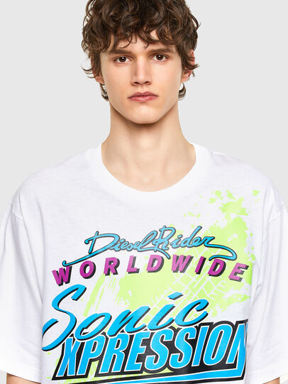 Diesel - T-DELPHONE, White - T-Shirts - Image 3