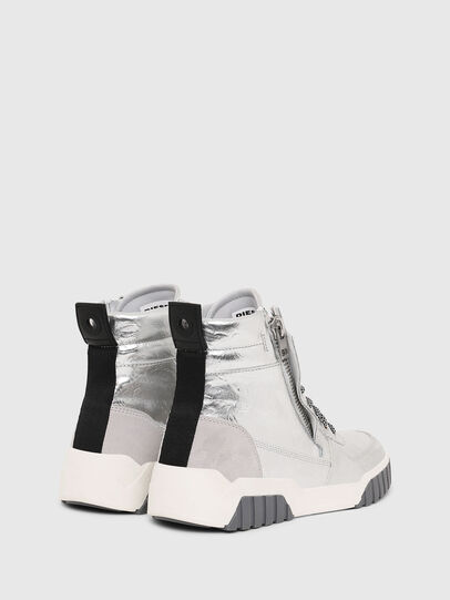 Diesel - S-RUA MID W, Silver - Sneakers - Image 3