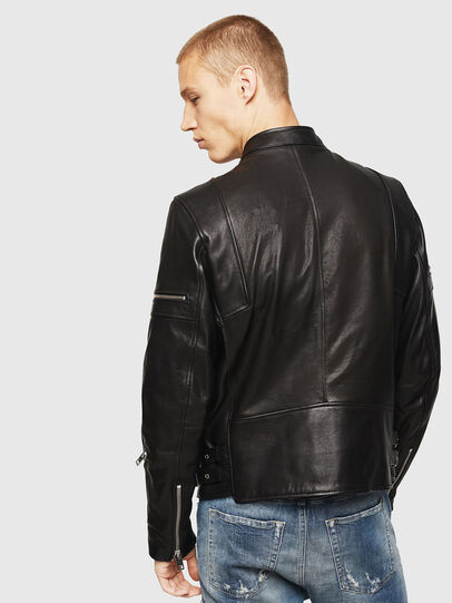 Diesel - L-TOVMAS, Black - Leather jackets - Image 2