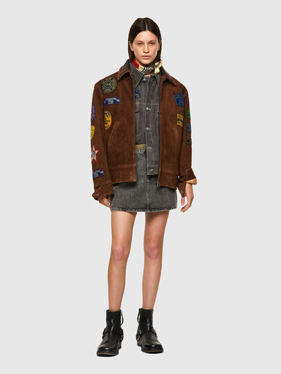 Diesel - DxD-3, Brown - Leather jackets - Image 9