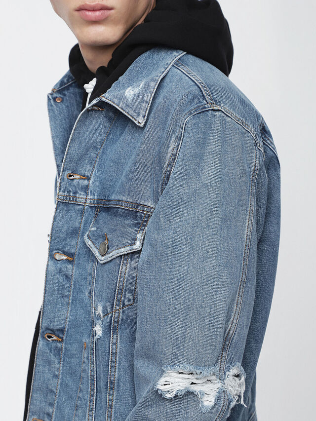 Diesel D-ROBYN, Blue Jeans - Denim Jackets - Image 3