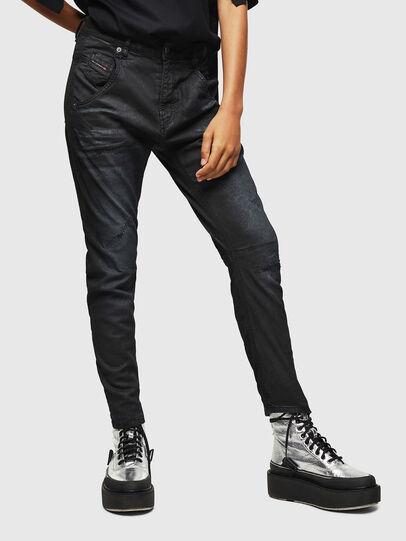 Diesel - Fayza JoggJeans 069GP, Black/Dark grey - Jeans - Image 1