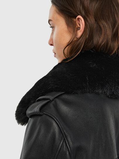 Diesel - L-LIV, Black - Leather jackets - Image 5