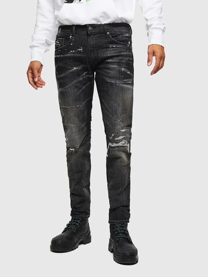 Diesel - Thommer JoggJeans 0098E, Black/Dark grey - Jeans - Image 1