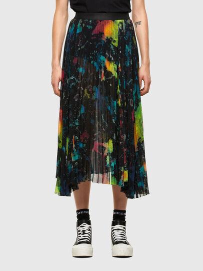 Diesel - O-SHEER, Black - Skirts - Image 1