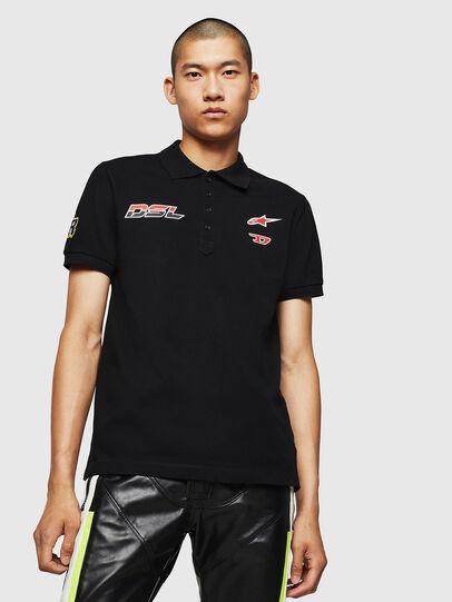 Diesel - ASTARS-T-NIGHT-NEW, Black - T-Shirts - Image 1