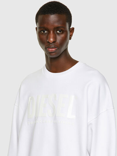 Diesel - S-MART-INLOGO, White - Sweaters - Image 3