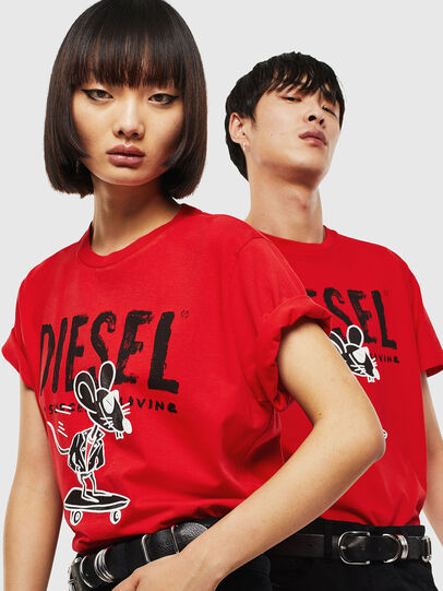 Diesel - CL-T-DIEGO-1, Red - T-Shirts - Image 5
