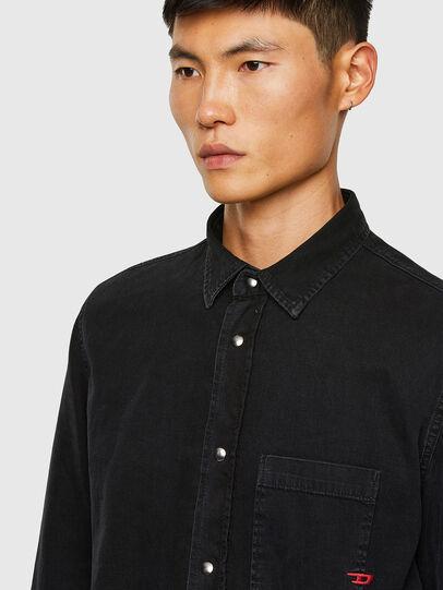 Diesel - D-WEAR-B1, Black - Denim Shirts - Image 3