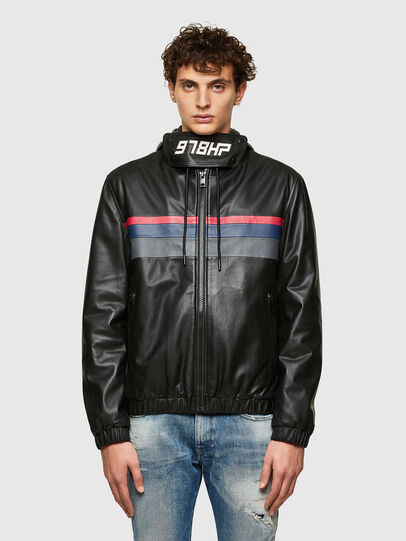 Diesel - L-CIRCLE, Black - Leather jackets - Image 1