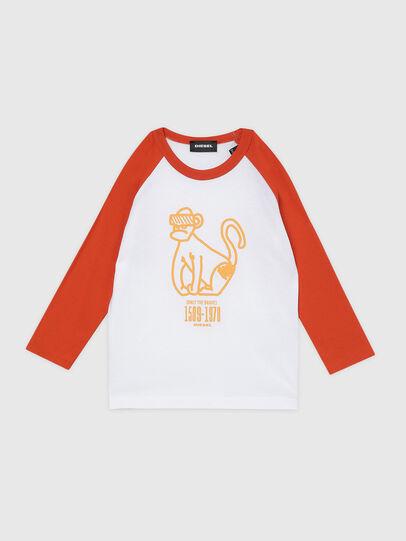 Diesel - TBALYB-R, White/Orange - T-shirts and Tops - Image 1