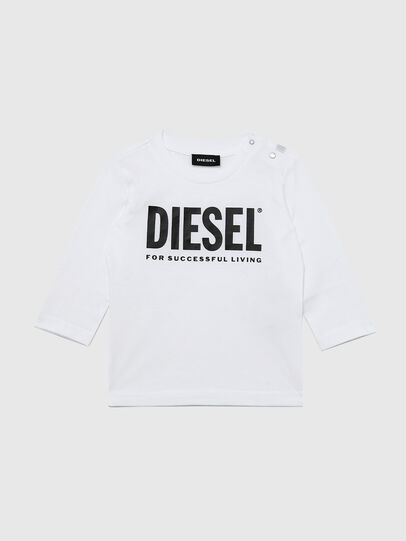 Diesel - TJUSTLOGOB ML, White - T-shirts and Tops - Image 1