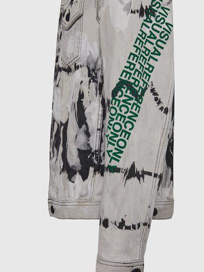 Diesel - NHILL-SP3, Black/White - Denim Jackets - Image 6