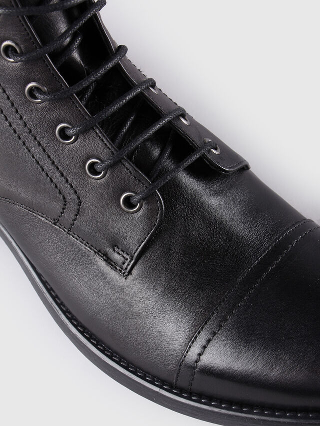 Diesel - D-KALLIEN, Black Leather - Boots - Image 4
