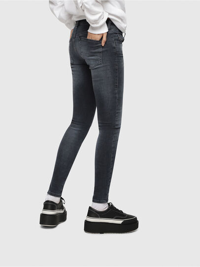 Diesel - Slandy Low 069BT, Dark Blue - Jeans - Image 3