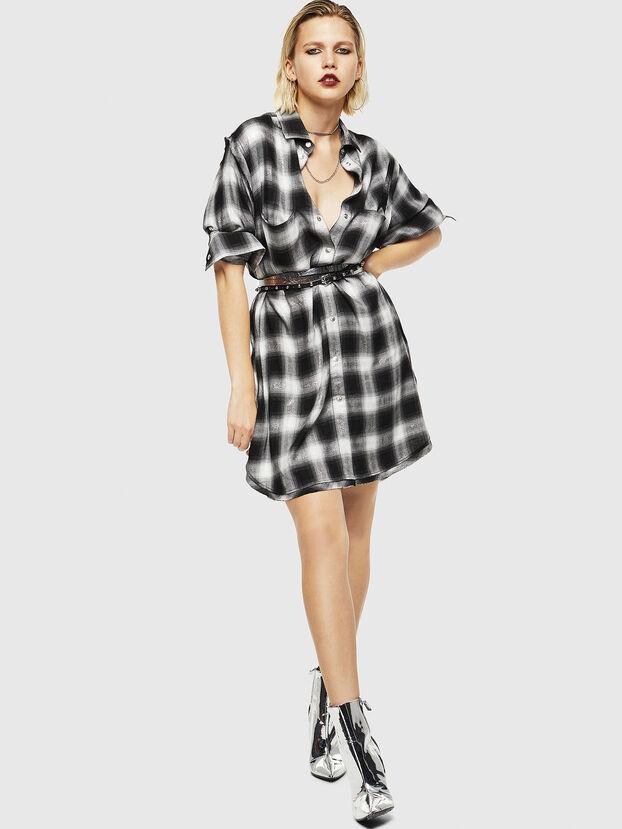 D-SUNNY-A, Black/White - Dresses