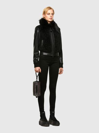 Diesel - L-LEDA, Black - Leather jackets - Image 6
