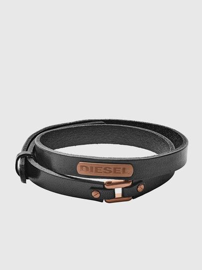 Diesel - BRACELET DX1093, Black - Bracelets - Image 1