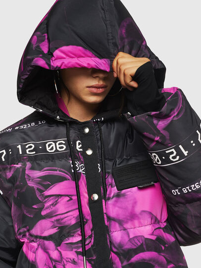 Diesel - W-DORYN-B, Black/Pink - Winter Jackets - Image 7