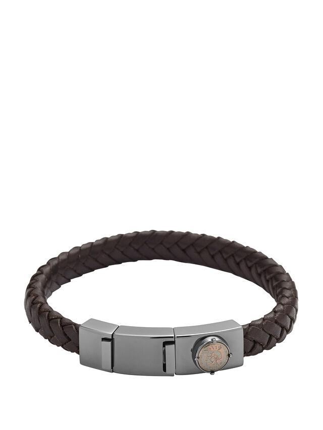 Diesel - BRACELET DX0856, Dark Brown - Bracelets - Image 1